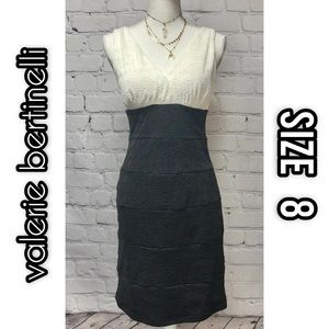 Valerie Bertinelli black/white dress